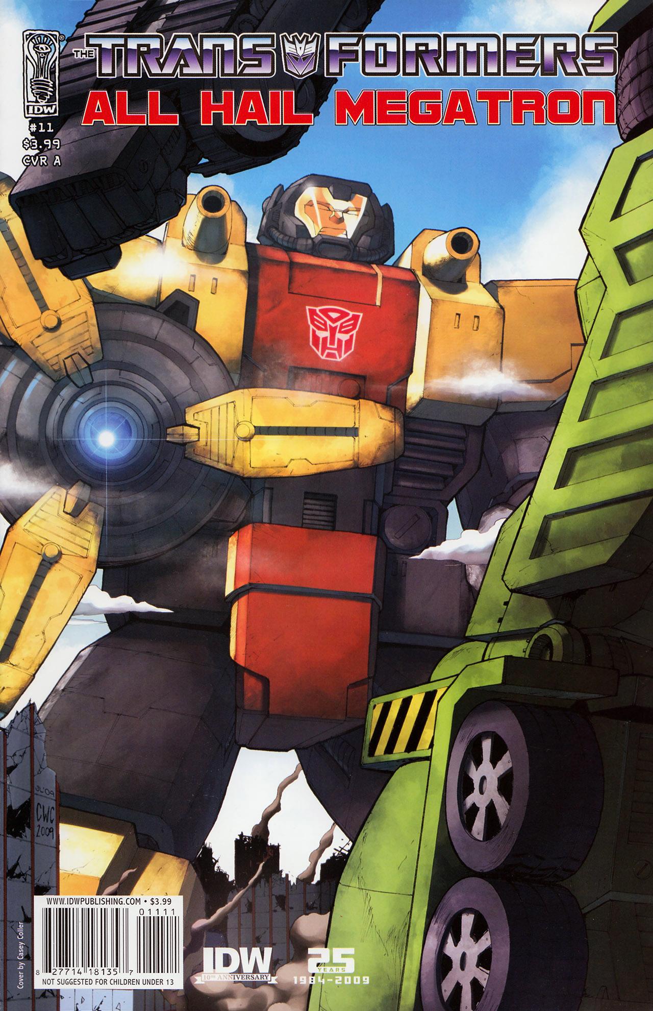 Комиксы Онлайн - Трансформеры: Да здравствует Мегатрон - # 11 - Страница №1 - Transformers: All Hail Megatron - # 11
